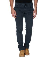 Frankie Morello | Blue Denim Pants for Men | Lyst