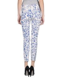 Current/Elliott | Blue Casual Pants | Lyst