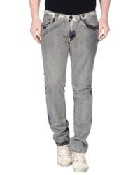 Paolo Pecora - Gray Denim Pants for Men - Lyst