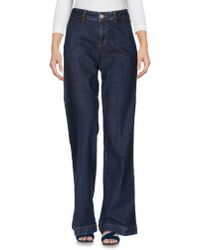 RED Valentino | Blue Denim Trousers | Lyst
