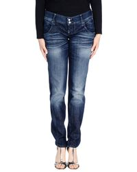 CYCLE - Blue Denim Trousers - Lyst