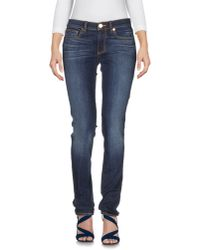 Tory Burch - Blue Mid Rise Cropped Skinny Jeans - Lyst