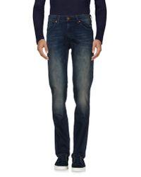 Wrangler - Blue Denim Trousers for Men - Lyst