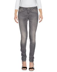 Guess | Gray Denim Trousers | Lyst