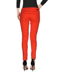 Roxy - Red Denim Pants - Lyst