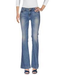 J Brand | Blue Denim Pants | Lyst