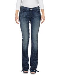 7 For All Mankind - Blue Denim Pants - Lyst