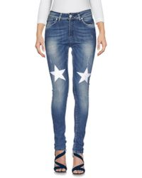 Ufficio 87 - Blue Denim Pants - Lyst