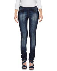 Frankie Morello | Blue Denim Trousers | Lyst