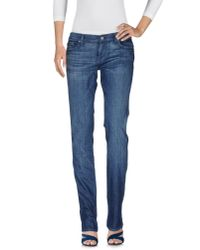 7 For All Mankind | Blue Denim Trousers | Lyst