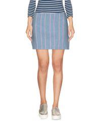 T By Alexander Wang   Blue Denim Skirt   Lyst