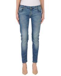Annarita N. | Blue Denim Trousers | Lyst