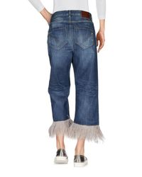 Dondup - Blue Denim Capris - Lyst