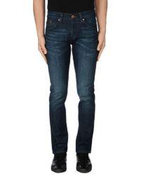 Wrangler | Blue Denim Pants for Men | Lyst