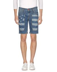 Jeckerson - Blue Denim Bermudas for Men - Lyst