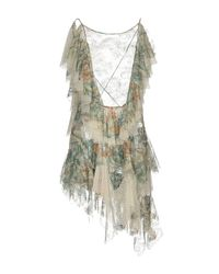 Philosophy Di Lorenzo Serafini - Green Short Dress - Lyst