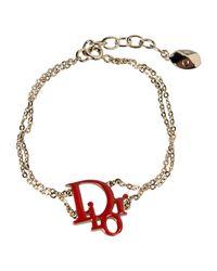 Dior - Red Bracelet - Lyst
