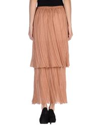 Hache - Natural Long Skirt - Lyst