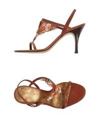 Nine West - Brown Sandals - Lyst