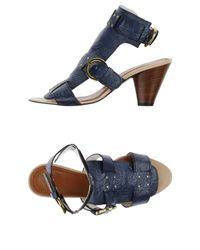 Miss Sixty - Blue Sandals - Lyst