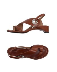 Maison Margiela - Brown Toe Strap Sandal - Lyst