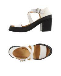 MM6 by Maison Martin Margiela - White Sandals - Lyst