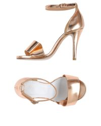 Maison Margiela - Metallic Sandals - Lyst