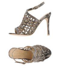 Lola Cruz - Gray Sandals - Lyst