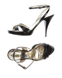 Grey Mer | Black Sandals | Lyst
