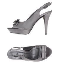 Barbara B - Gray Sandals - Lyst