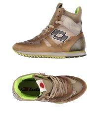 Lotto Leggenda - Brown High-tops & Sneakers - Lyst