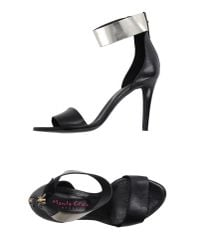 Manila Grace | Black Sandals | Lyst