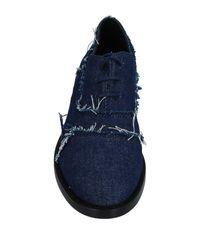 MM6 by Maison Martin Margiela Blue Lace-up Shoe