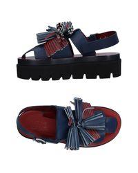MM6 by Maison Martin Margiela - Blue Sandals - Lyst