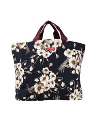 Dolce & Gabbana | Black Floral Print Tote | Lyst