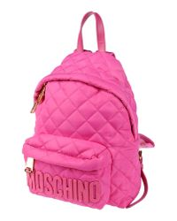 Moschino | Pink Backpacks & Bum Bags | Lyst