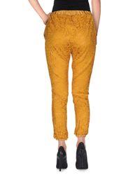 Soallure - Yellow 3/4-length Shorts - Lyst