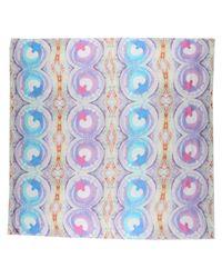 Contileoni - Purple Square Scarf - Lyst