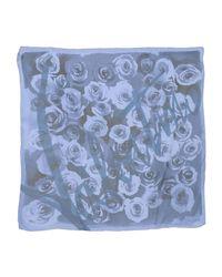 Valentino - Blue Square Scarf - Lyst