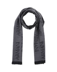 Armani - Gray Oblong Scarf for Men - Lyst