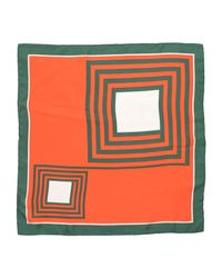 Céline - Orange Square Scarf - Lyst
