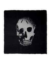 Alexander McQueen - Black Burnout Skull-printed Scarf for Men - Lyst