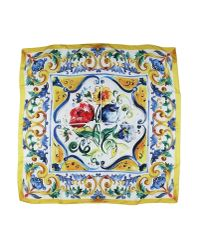 Dolce & Gabbana | Yellow Square Scarf | Lyst
