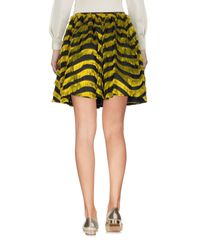RED Valentino - Yellow Knee Length Skirt - Lyst