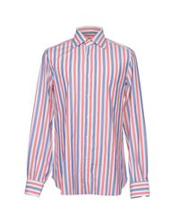 Isaia - Red Shirt for Men - Lyst