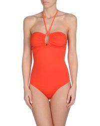 Bronzette | Orange One-piece Swimsuit | Lyst