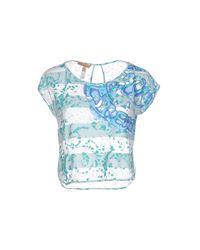 Ermanno Scervino - Blue T-shirt - Lyst