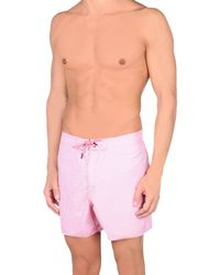 Emporio Armani | Pink Swimming Trunks for Men | Lyst