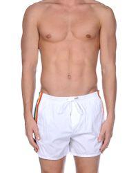 DSquared² | White Swimming Trunks for Men | Lyst
