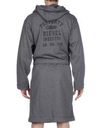 DIESEL - Gray Bathrobe for Men - Lyst